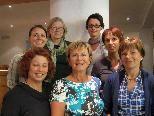 hinten links nach rechts: Mag. Ruth Tschofen, Elisabeth Trippolt, Christine Bauer, Mag. Esther Schnetzer          vorne links nach rechts: Dagmar Braun, Renate Neve, Anita Dönz