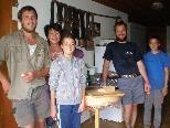 Alpabtrieb: Lukas, Gisel, Christina, Manuel, Fabian und  Mathias (fehlt auf dem Bild)