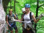 Andy, Kathrin und Belinda gefiel die Kombination aus Wandern und Klettern besonders gut