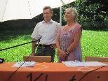 Begrüßung durch Obfrau Eva-Maria Dörn und Bürgermeister Lothar Ladner