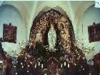 Die Lourdes-Grotte aus Tuffstein wurde in den 80er-Jahren durch ein Bild ersetzt