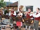 Die Musikanten der Bauernkapelle Andelsbuch spielten auf.