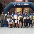 Die Sieger und Prominenten beim Radfest in Rankweil.