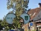 Die neue Eisenskulptur beim Kreisverkehr Sulz - Röthis.