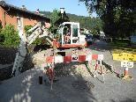 Ein Teilstück der Rhetikusstraße in Tosters ist derzeit wegen Wasserleitungsarbeiten erschwert passierbar