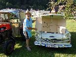 Friedl mit dem toll restaurierten Fahrzeug
