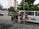 Gruppenfoto Teilnehmer mit Sportbus
