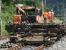 Intensive Gleisbauarbeiten mit großen Baumaschinen starten ab kommenden Montag am Bahnhof Dornbirn