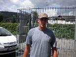 Joey Pell bei seiner Ankunft in Feldkirch