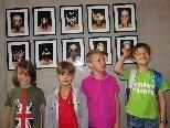 Marius, Cornelius, Kilian und Famian freuen sich schon auf den Kunstworkshop