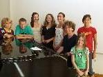 Martin Lindenthal mit einigen Teilnehmern der Musiksommerwoche