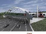Neue Bogenbrücke über die Autobahn auf Schweizer Seite