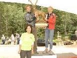 Sieger Flori Endress und Gerti Ott mit Carola Stiglechner vom Tri-Team Kleinwalsertal.