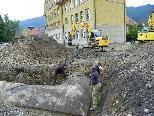 Vermessungsarbeiten vor dem Abriss