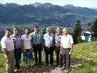 v.li.. Walter Rauch, Leo Amann, Sabine Duelli, Andreas Amann, Ludwig Mähr, Armin Amann, Daniel Wiesner.