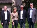 Astrid Zylla mit StR. Karl Dobler, Klaus Gasser (Stadtmarketing-GF) und Bgm. Richard Amann (v. l.).