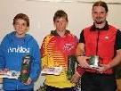 Das Siegertrio vom Vereinscup (von links): Florian Rapaic (2.), Michael Lingg (1.) und Mario Noventa (3.).