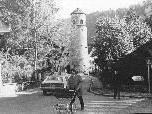 Der Hirschgraben mit dem Katzenturm in den späten 60er Jahren.