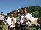 Die Familie Albrecht betreute auf der Alpe Brudertann 149 Kühe und Jungtiere sowie 11 Pferde