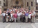 Die Teilnehmer vor der Kathetrale in Luxemburg