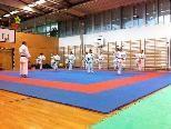 Die eifrigen Karatekas beim Training