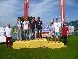 Die erfolgreichen Teams des Yacht Club Bregenz v.l.: Clearance Veraar / Christoph Matt (2.), Benjamin und Simon Bildstein (1.), Valentin burger / Manuel Quendler (3.)