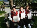 Geschafft: Manuel Müller, Elias Fritsche und David Müller legten erfolgreich die Prüfung zum Jungmusiker-Leistungsabzeichen in Bronze ab.