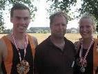 Schatzmann und Klien mit Trainer Hans Frei