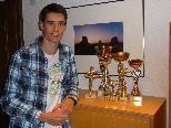 Tobias Muther freut sich sehr auf die Karate Junioren WM in Malaysia im Oktober - er ist stolz auf seine bisherigen Erfolge