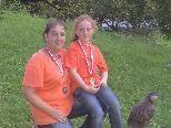 Zwei Vizelandesmeistertitel gingen nach Altach! L. Carmen Amann mit Magdalena Oswald R.