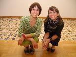 (l.) Die Künstlerinnen  zeigen im Palais Liechtenstein ihre Werke.