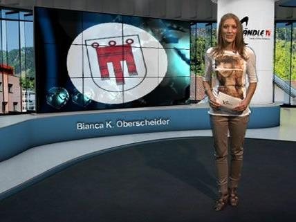 Bianca Oberscheider führt durch die Sendung