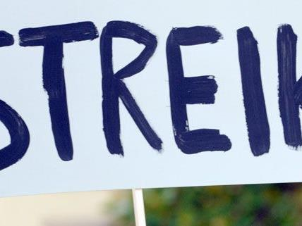 Arbeiter in Österreich streiken