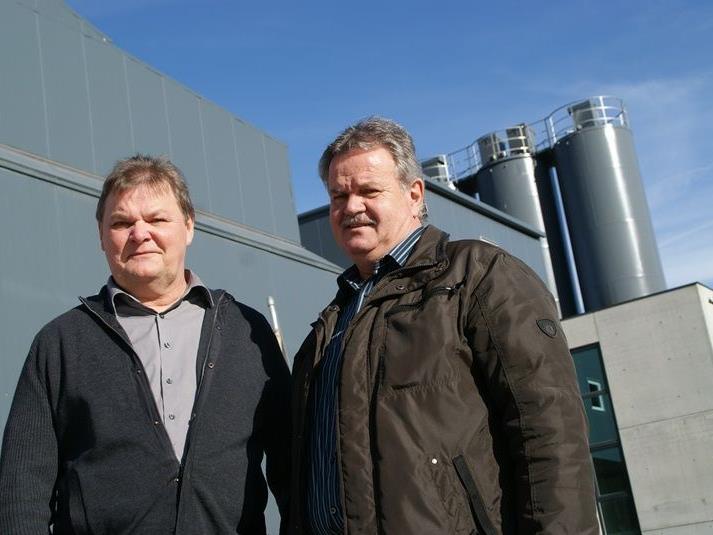 Die Geschäftsführer: Baumeister Erich Moosbrugger und Franz Huber