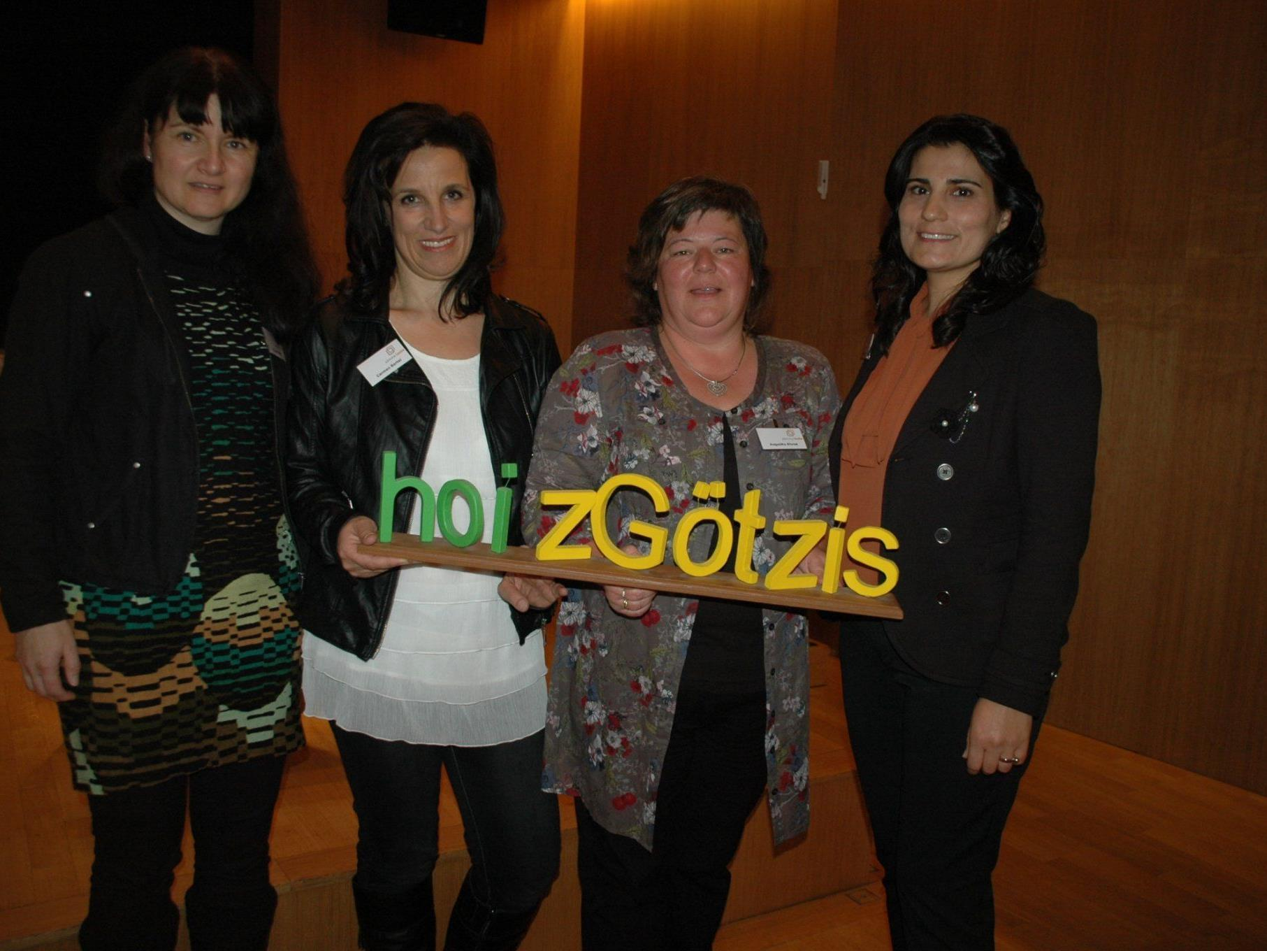 Das engagierte Organisationsteam (v.l.) Helga Repnik, Carmen Bertel, Angelika Ehrne & Bican Cosgun