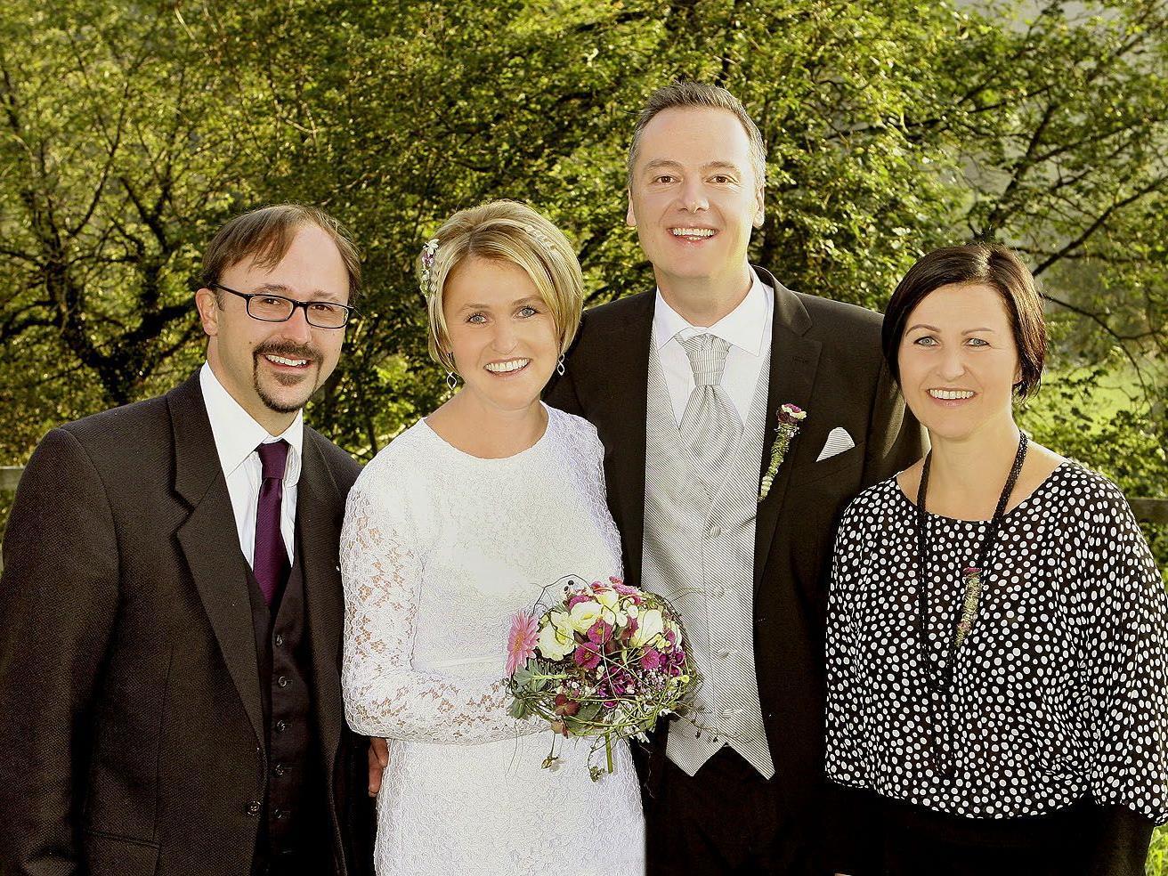 Evi und Manfred Bernhart haben geheiratet