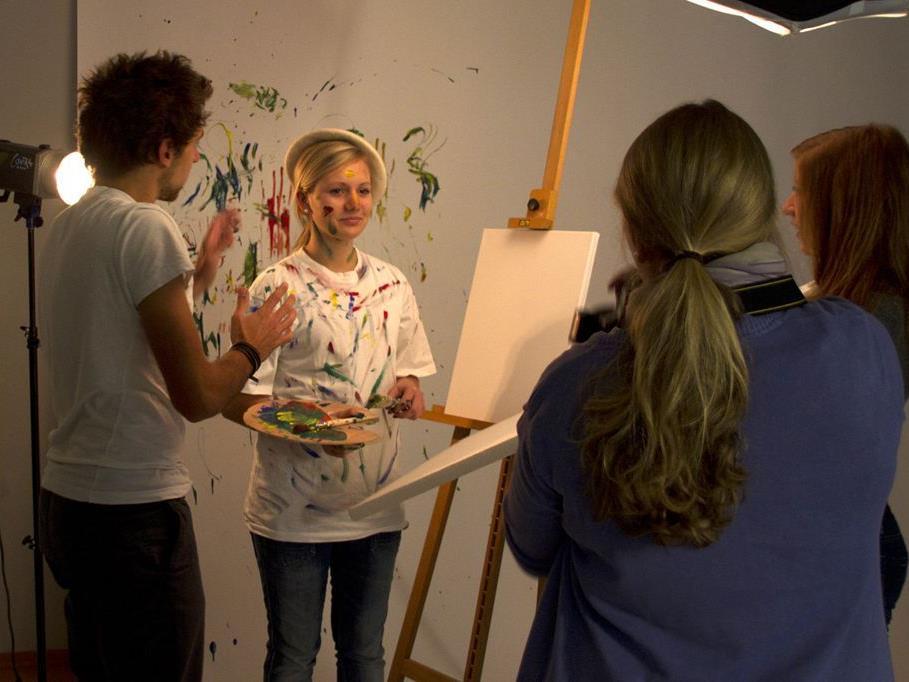 Jugendliche setzten die Themen vom aha beim Fotoworkshop kreativ um.