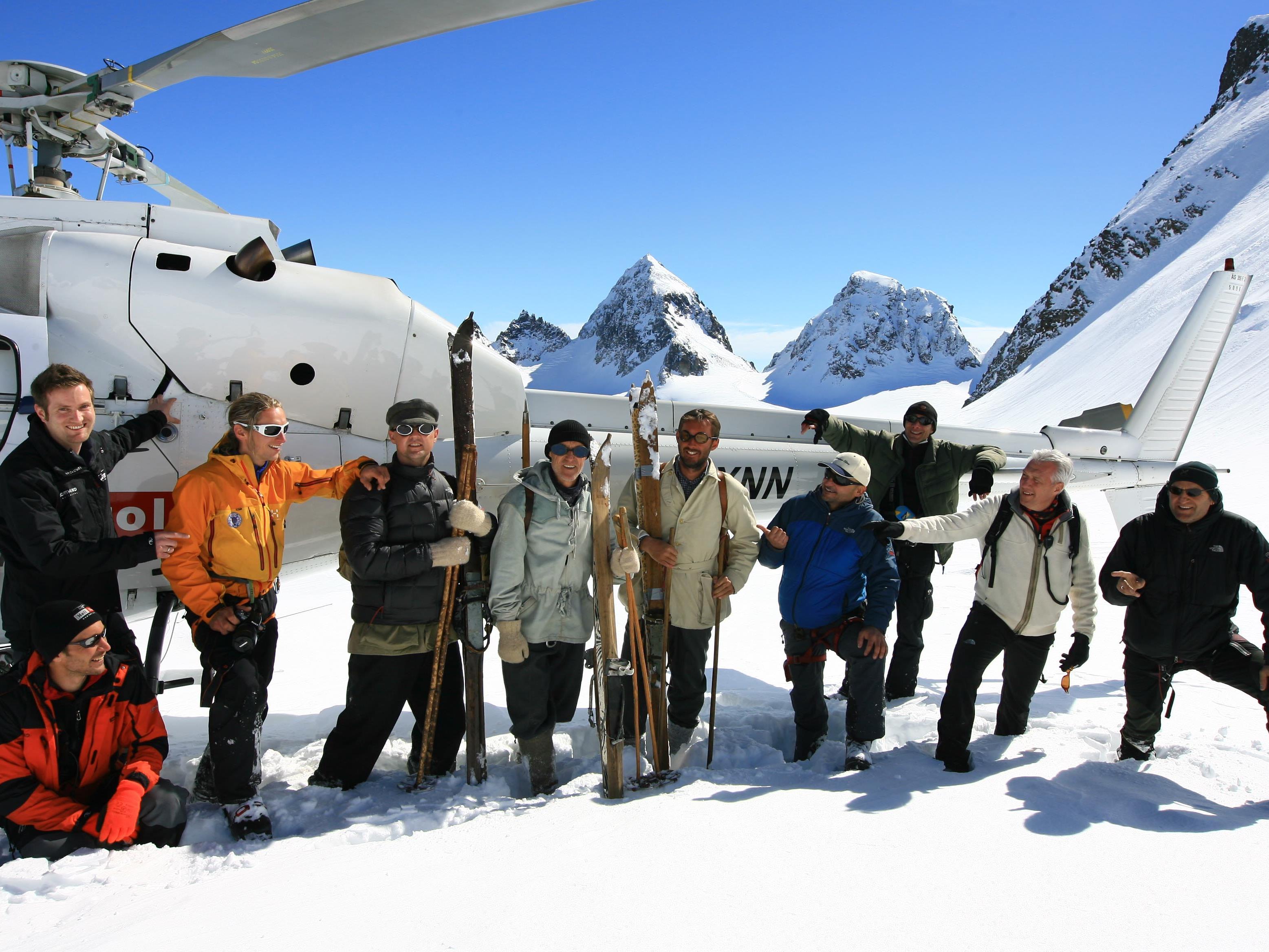 Das Servus-TV-Team bei den Dreharbeiten in der Silvretta