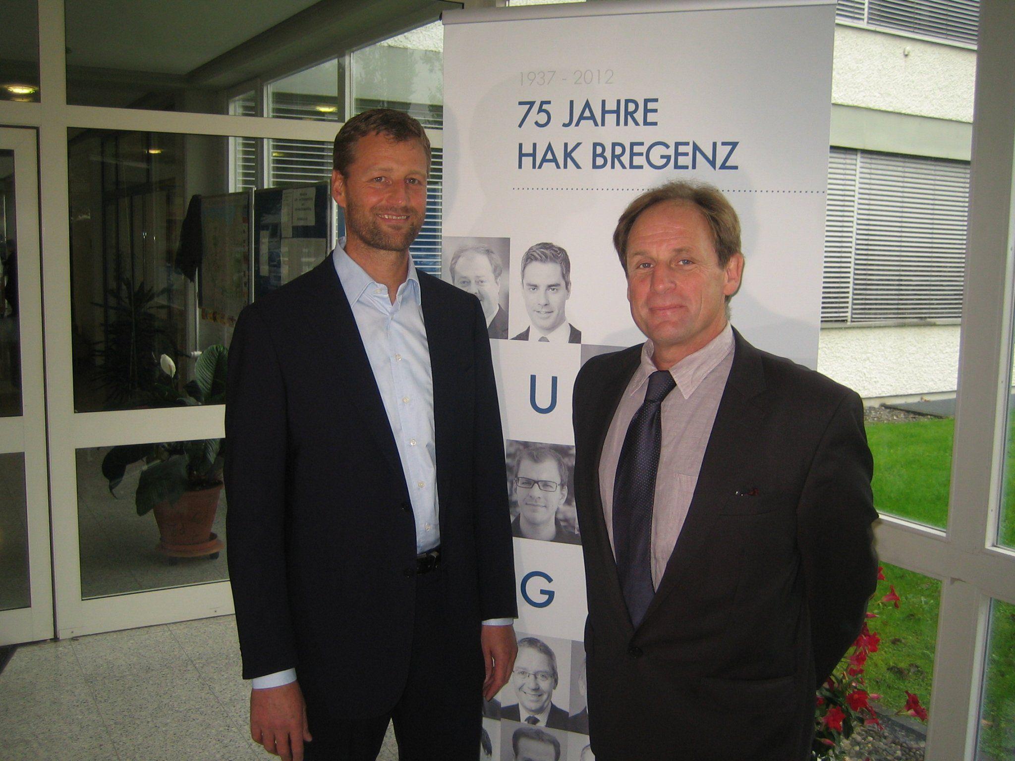 Mag. Jürgen Sutterlüty mit Dir. Manfred Hämmerle