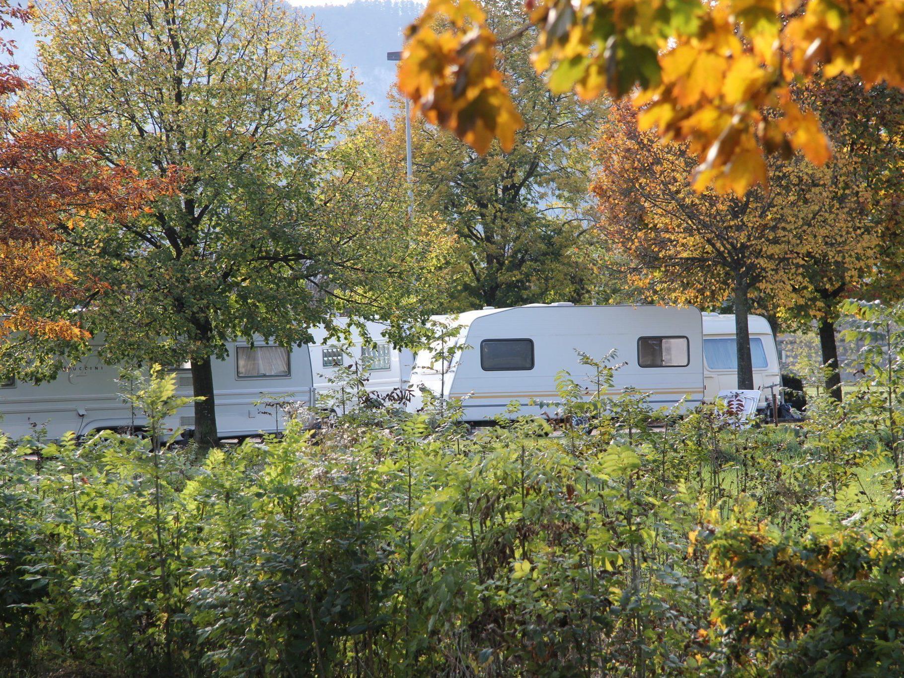 Die 50-köpfige Gruppe hat mit ihren 20 Wohnwagen derzeit ihr Lager in Götzis aufgeschlagen.