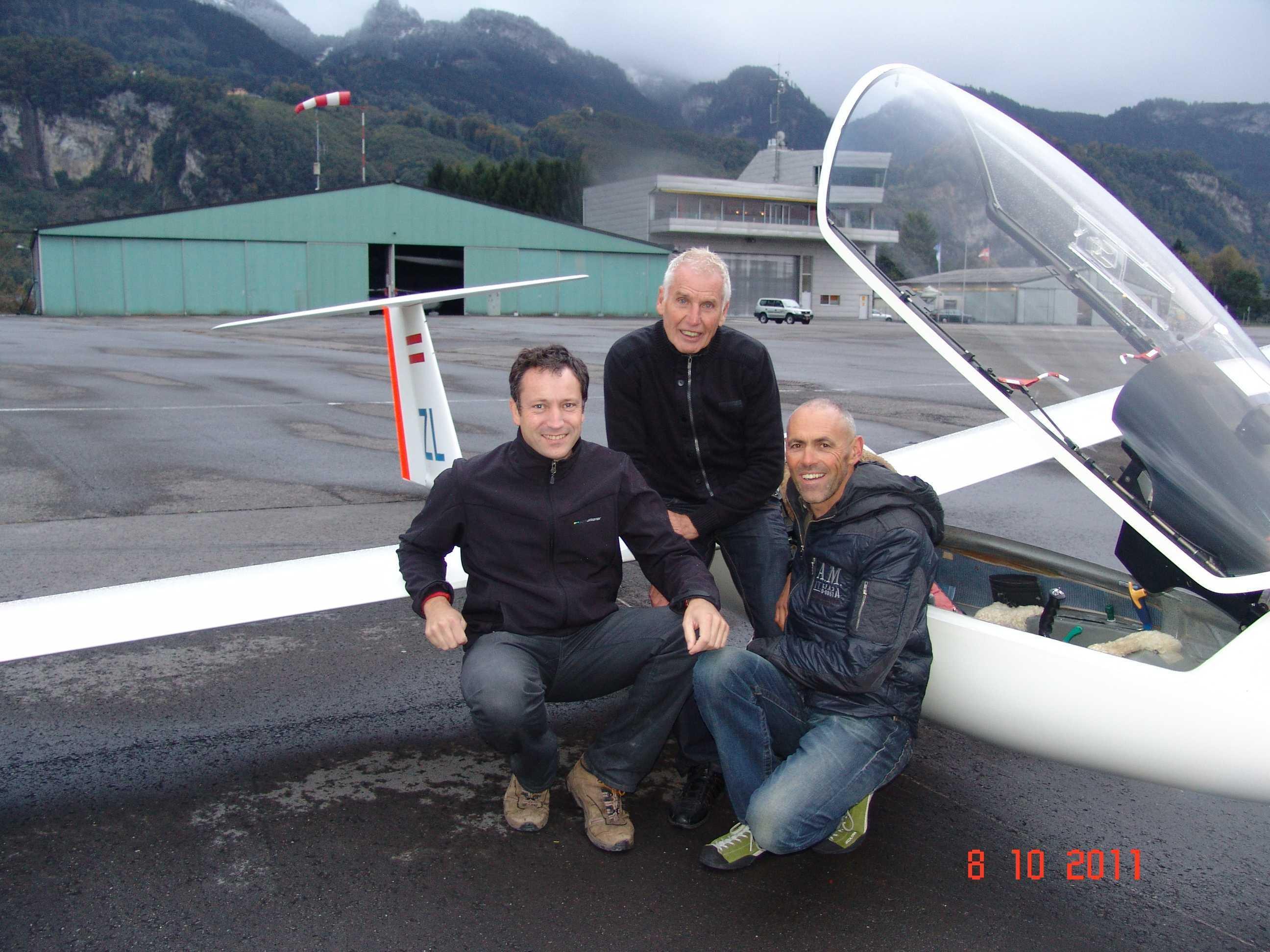 Die Macher in der österr. Segelfliegerszene: Werner Amann, Heinz Hämmerle und Peter Mungenanst