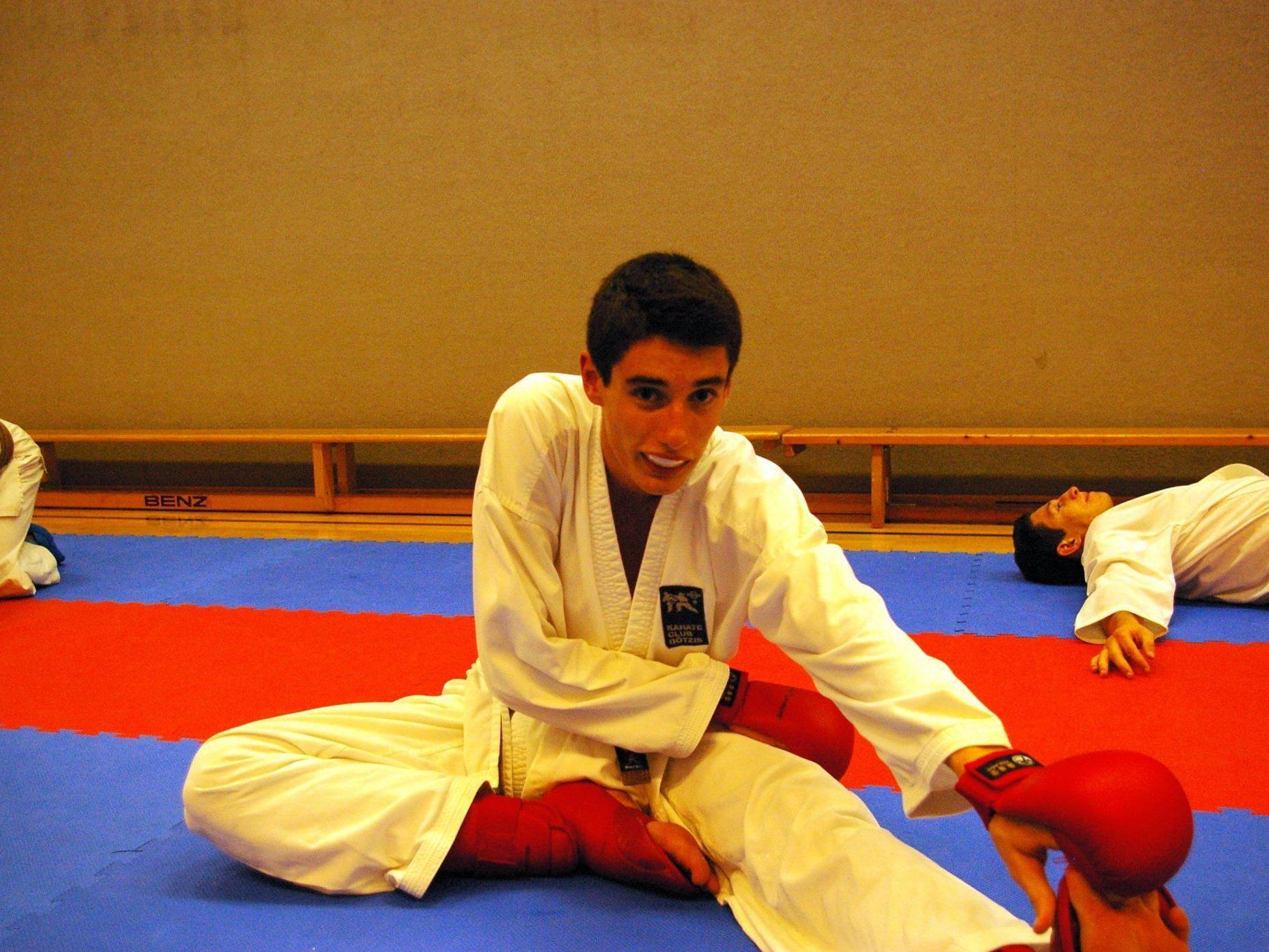 Tobias Muther beim Training