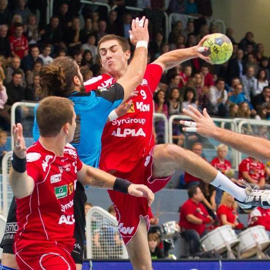 Der 19-jährige Boris Zivkovic legte gegen Leoben eine gelungene Talentprobe im rechten Rückraum ab und erzielte vier Treffer.