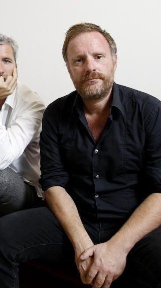 Dirk Stermann (l.) und Christoph Grissemann im Rahmen eines Interviews.