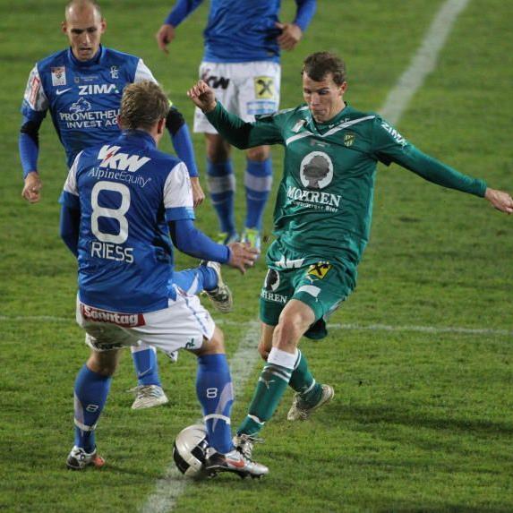 Dynamisch und treffsicher zeigte sich Jan Zwischenbrugger im ersten Derby gegen den FC Lustenau.