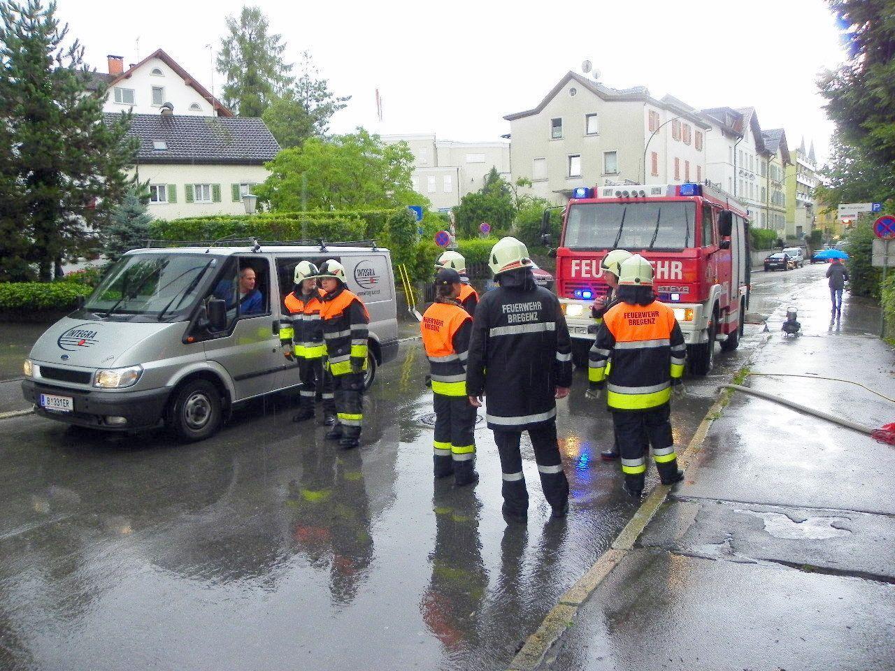 Hochwassereinsatz in Bregenz