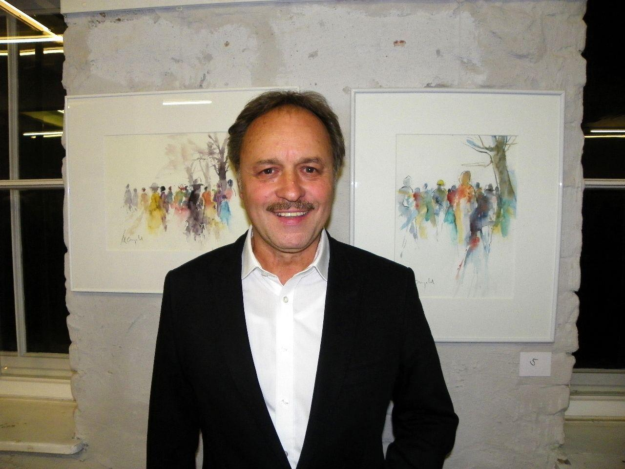 Künstler Gerhard Mangold präsentierte Aquarellarbeiten