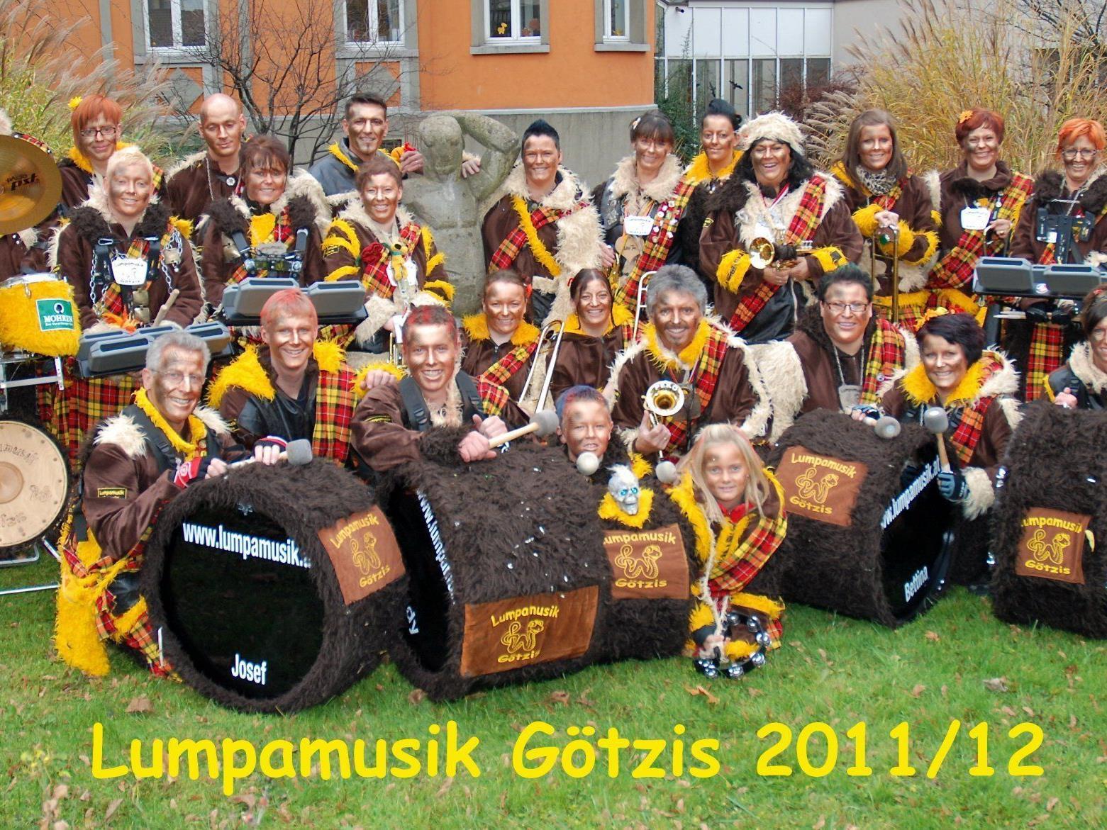 Fasnateröffnung der Lumpamusik Götzis in Götzis, Götzis Berg, Mäder und Meiningen
