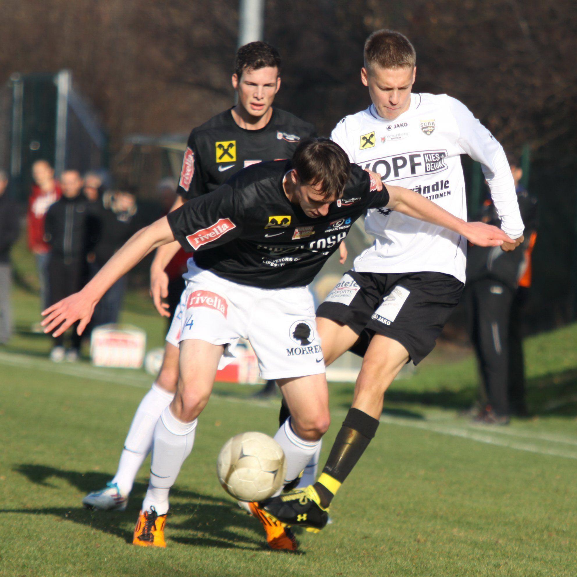 Mathias Einsle schoss das 1:0 für rivella SC Bregre