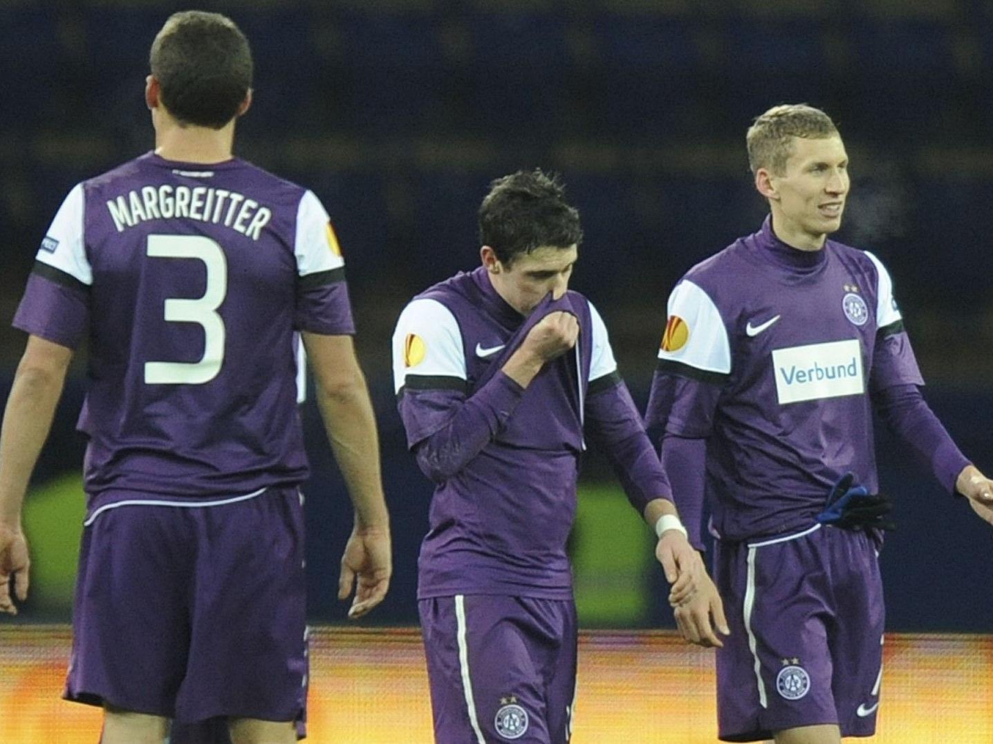 Austria Wien verlor gegen Metalist Charkiw mit 1:4.
